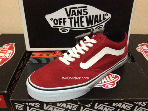 ภาพจริงจากร้าน : VANS TNT 5(Trujillo) - Dark Scarlet/White (RED) : Price 3350.-