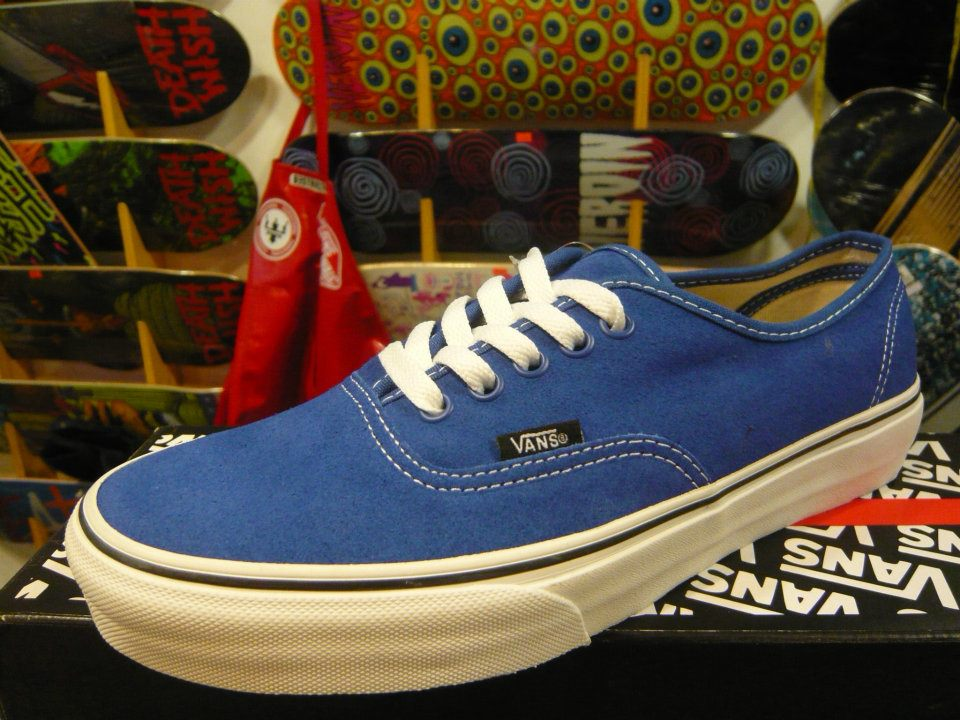 VANS Authentic (Suede) - Classic Blue/TrueWhite : Price 2390.-