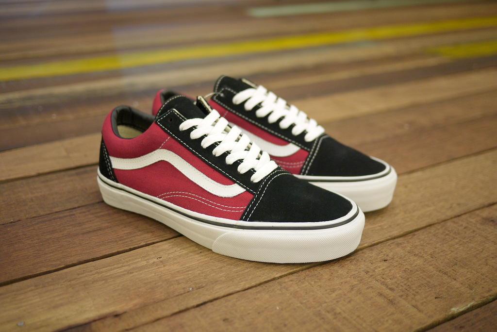 vans old skool biking red