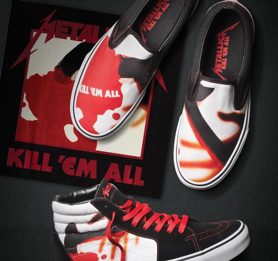 ae4a876119 Metallica Kill Em All X Vans HAlf cab skate shoe Metallica vans