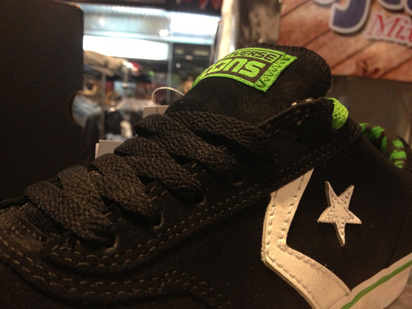 "CONS ""Trapasso Pro II Skate - Black/Jungle Green"" : Price 3000.-"
