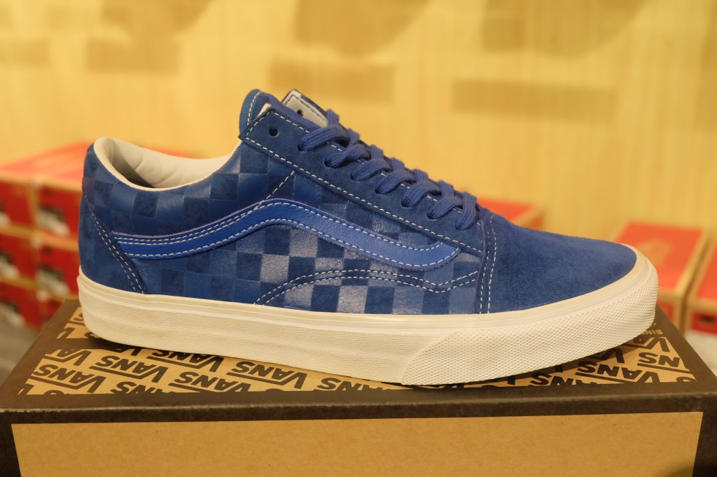 "รองเท้า VANS ""Old Skool Reissue CA Pack - Embossed Check (Snorkel Blue) : Price 3290.-"