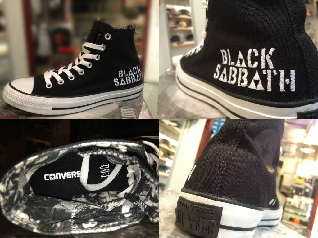 "Converse ""x BLACK SABBATH - Never Say Die!"" : Price 2900.-"