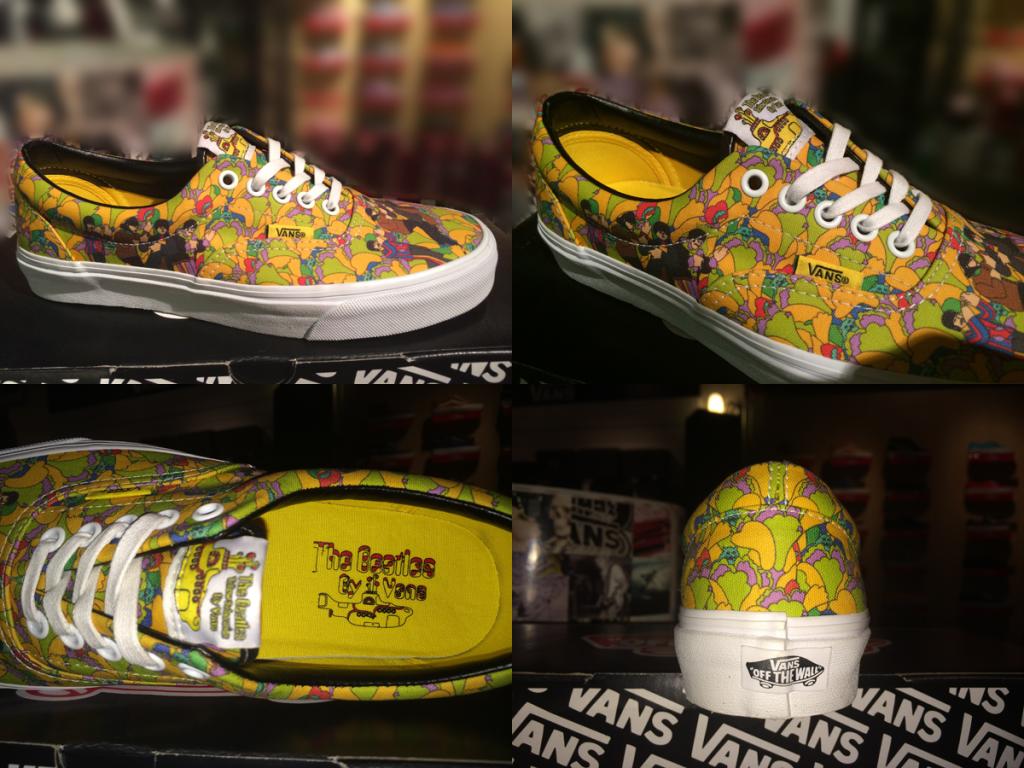 """รองเท้า VANS """"Era (The Beatles) – Garden/True White"""" [Yellow Submarine Signature] : Price 3400.-"""