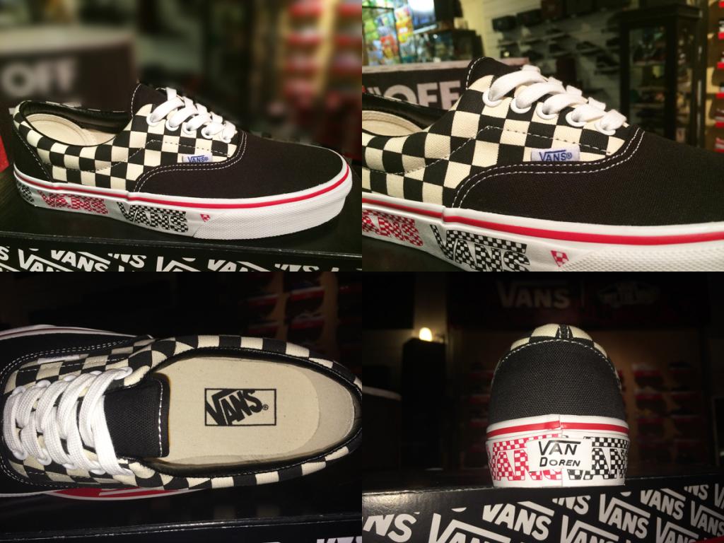 """รองเท้า VANS """"Era - (VAN Doren) Black/Checker"""" : Price 2500.-"""