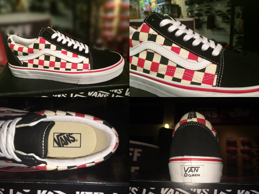 "รองเท้า VANS ""Old Skool - (VAN Doren) Multi Check/Black"" : Price 2600.-"