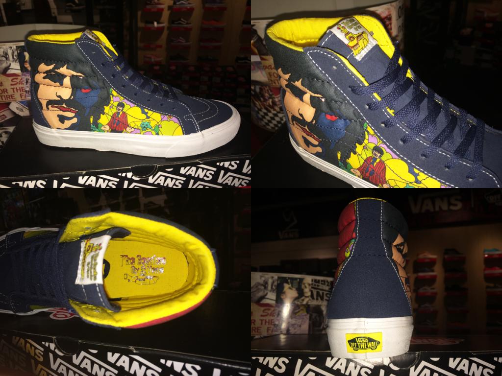 """รองเท้า VANS """"SK8-Hi Reissue (The Beatles) – Faces Dress Blues"""" [Yellow Submarine Signature] : Price 4200.-"""
