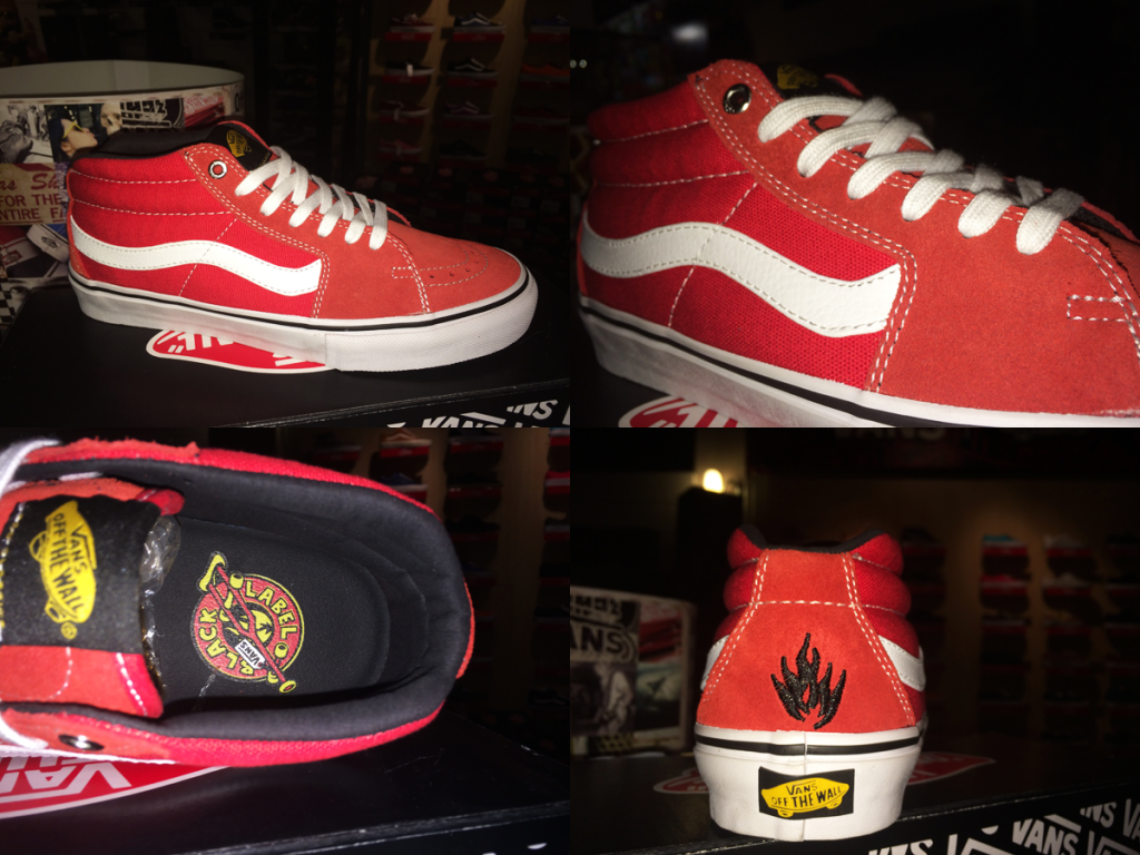 "รองเท้า VANS ""SK8-Mid PRO – x (Black Label) Red"" : Price 3290.-"