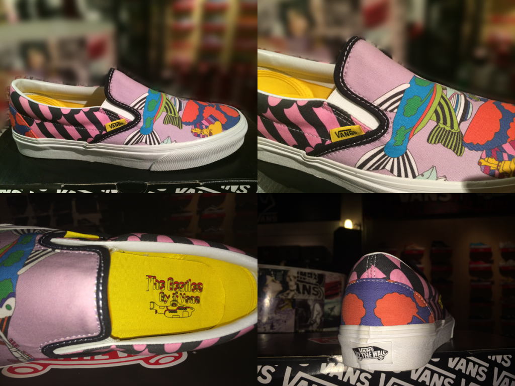 "รองเท้า VANS ""Slip On (The Beatles) - Sea Of Monsters"" [Yellow Submarine Signature] : Price 3300.-"