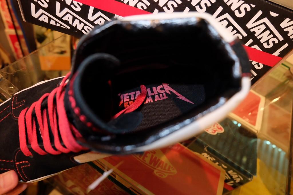 """รองเท้า VANS """"SK8 (Hi) - Metallica Signature (Kill 'Em All Series!)"""" [Collaboration - Limited Edition]"""" : Price 3,900.-"""