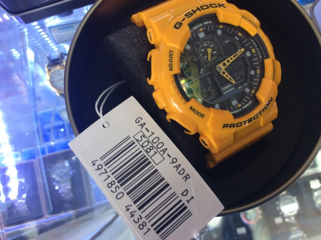 [G-Shock] GA 100A - 9ADR (Bubblebee) : ราคา 3,990