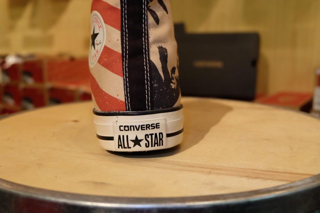"""รองเท้า Consverse """"All Star Hi – Black/Fire/Brick"""" : Price 2,400.-"""