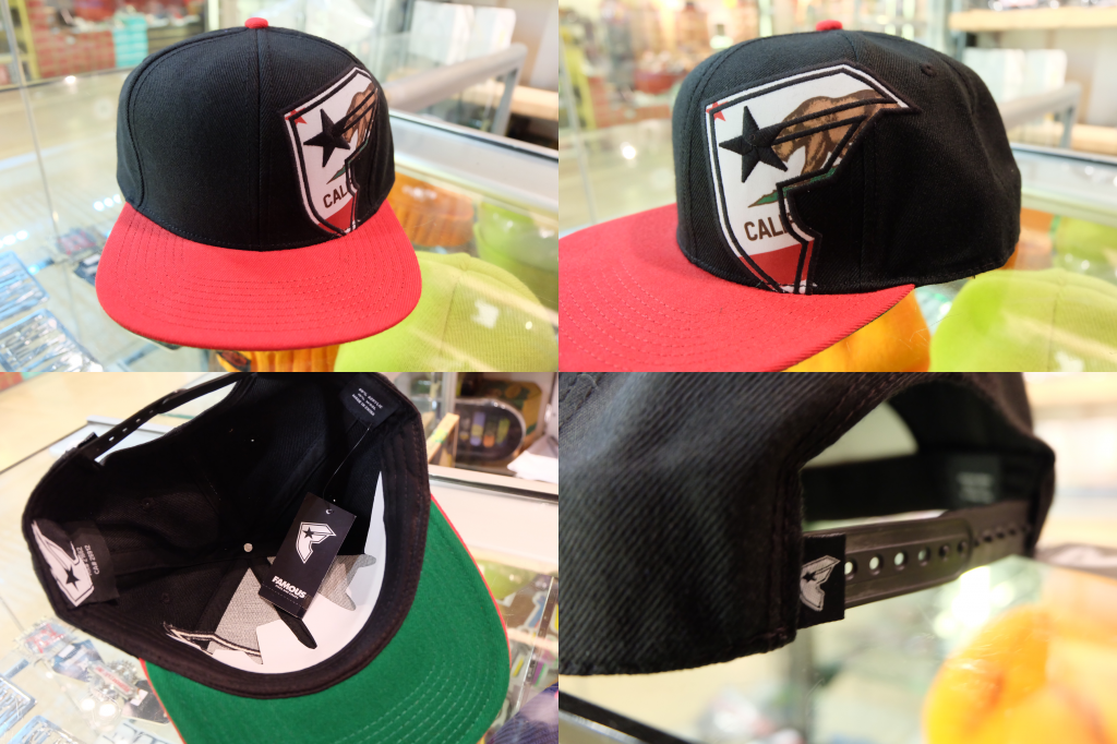 [FAMOUS] Stars and Straps Black Bear Badge Snapback Cap : ราคา 1,695.-