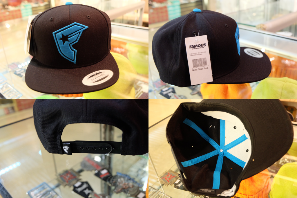 [FAMOUS] Official BOH - Black/Cyan : 1695.-