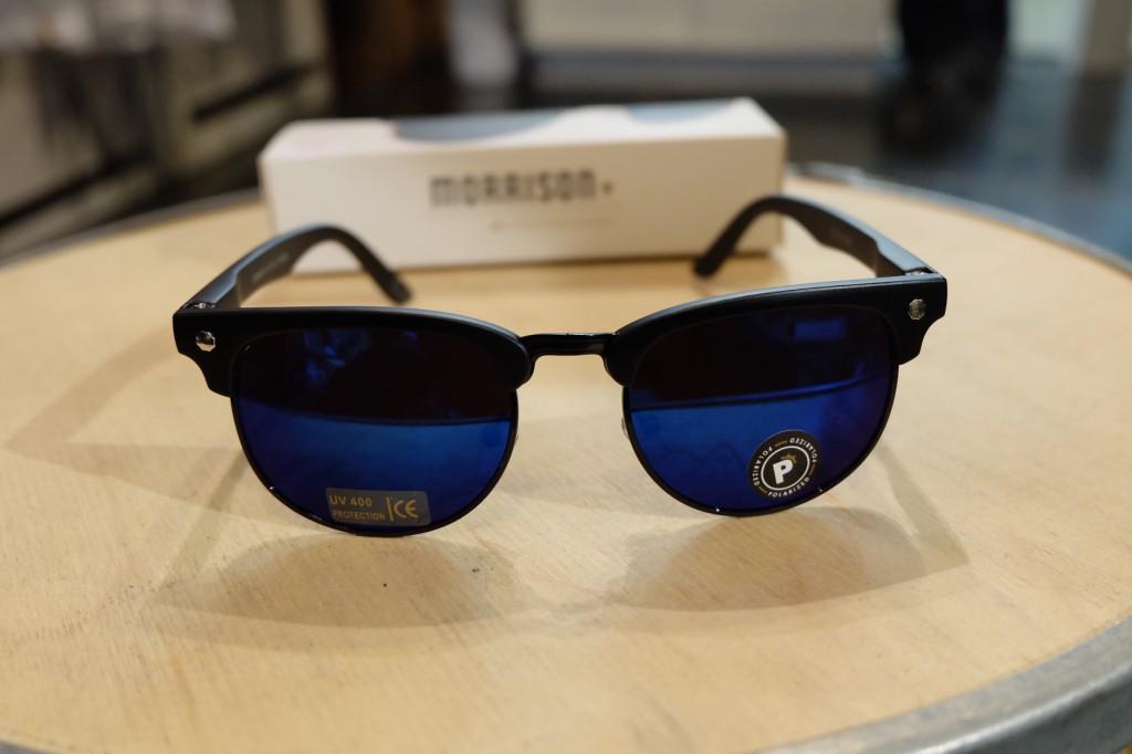 แว่นกันแดด Glassy | Glassy Morrison Signature - BLACK/BLUE MIRROR POLARIZED : ราคา 1,390.-