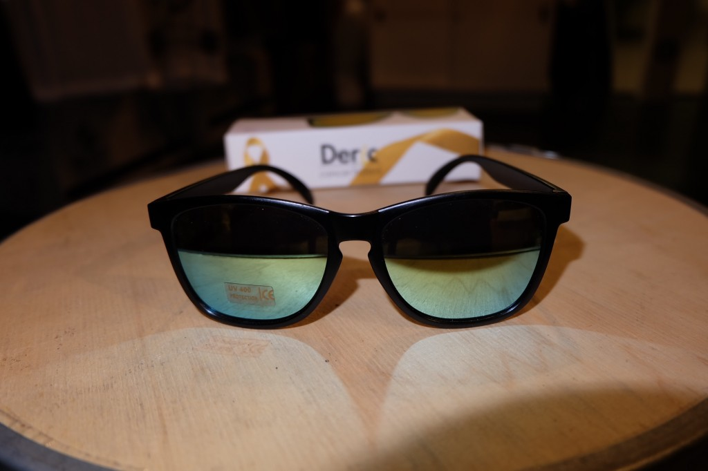 แว่นกันแดด Glassy | Glassy Deric Signature - CANCER HATER BLACK/GOLD MIRROR : ราคา 1,190.-