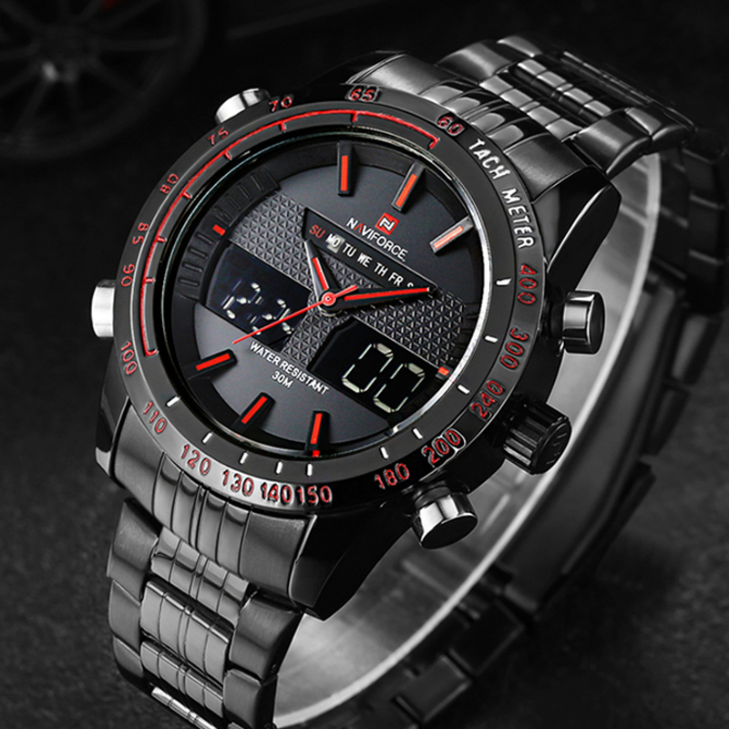 [NAVIFORCE] NF9024 - Black/Red : ราคา 990