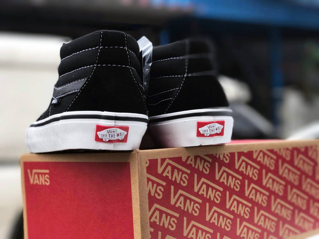 "VANS ""SK8-Mid PRO - Black/Black/White"" : Price 3,700.-"
