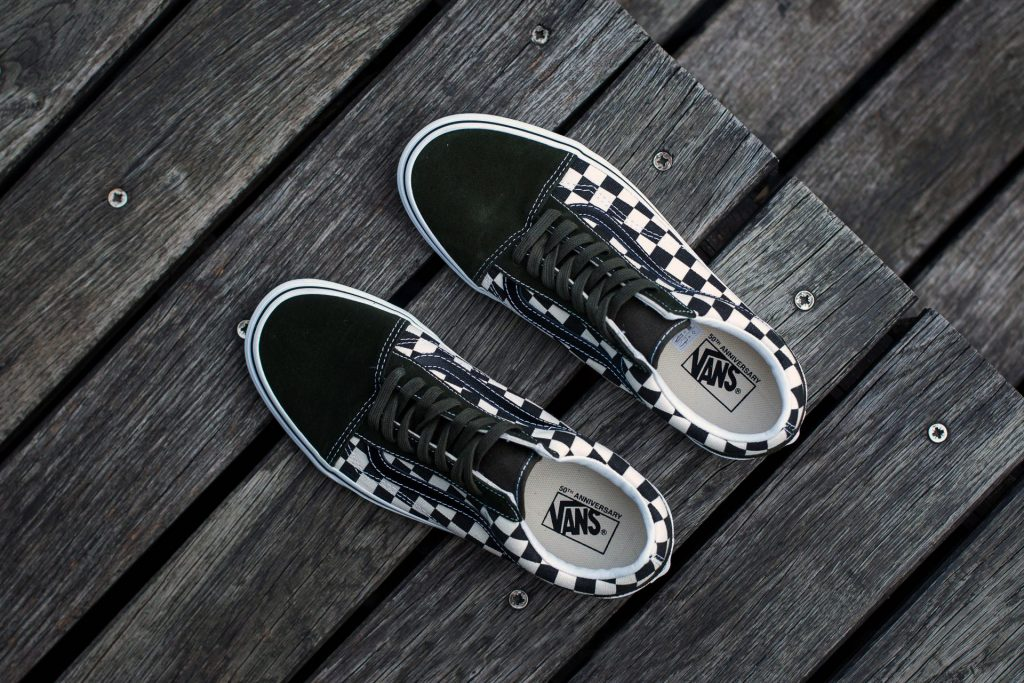 "VANS ""Old Skool (50th Celebration) - Checkerboard/Black/Rosin"" : Price 3,100.-"