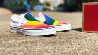 """VANS: Slip-On (Rainbow) – True White สี : พื้นขาวลายสายรุ้ง ราคา : 2,200.- ค่าส่ง : 100.- [EMS : 1-2 วันของถึงหน้าบ้านเลยครับ] รวม :2,300.- Most Sky! With The VANS """"Slip-On (Rainbow) – […]"""