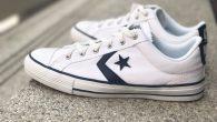 """Converse: Star Player Ox – White สี : พื้นขาวลายขาว ราคา : 1,800.- ค่าส่ง : 100.- [EMS : 1-2 วันของถึงหน้าบ้านเลยครับ] รวม :1,900.- Most Sport! With The Converse """"Star Player Ox […]"""