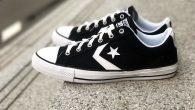 """Converse: Star Player Ox – Black สี : พื้นดำลายขาว ราคา : 1,800.- ค่าส่ง : 100.- [EMS : 1-2 วันของถึงหน้าบ้านเลยครับ] รวม :1,900.- Most Sport! With The Converse """"Star Player Ox […]"""