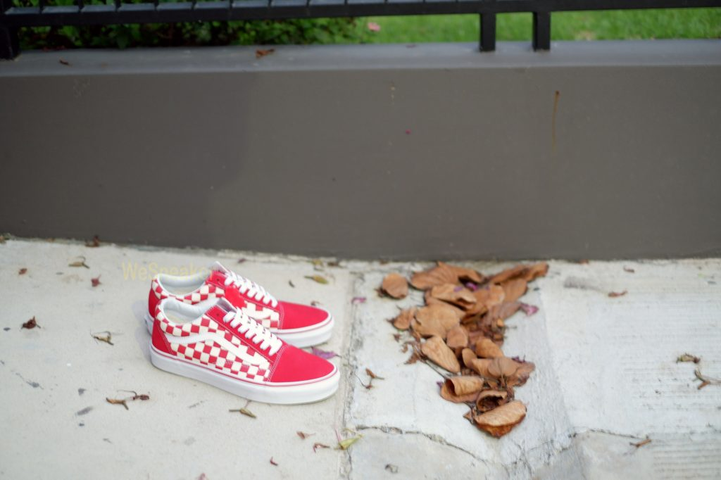 [VANS] Old Skool (Primary Check) - Racing Red/White : Price 2,900.-
