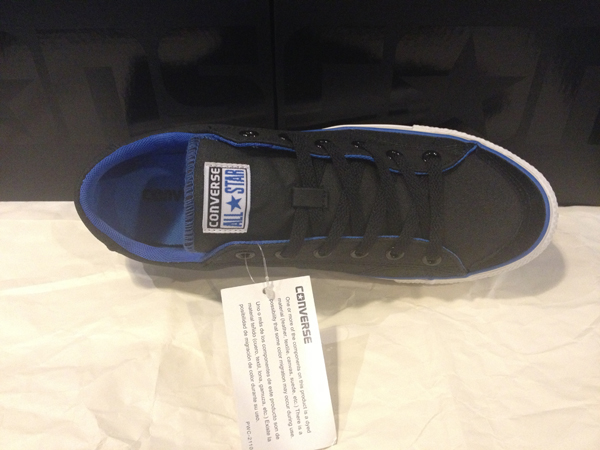 """CONS """"CT LS ox - Black/Strong Blue"""" :Price 2400.-"""