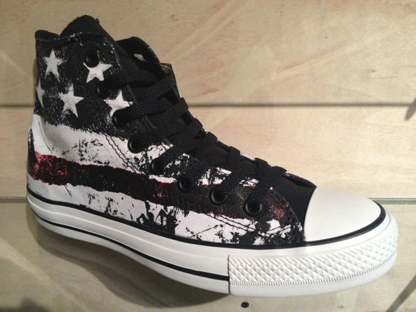 """Converse """"Chuck Taylor All Star Destroyed Flag Hi - Optical Wite/Chilli Pepper/Vintage"""" : Price 2800.-"""