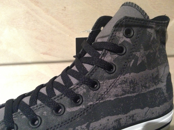 """Converse """"Chuck Taylor All Star Destroyed Flag (USA) Hi – Charcoal/Black/Grey"""" : Price 2800.-"""