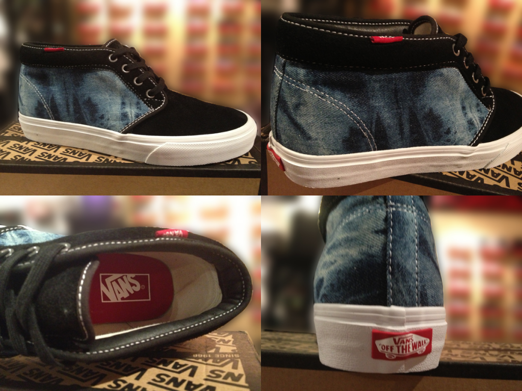 """Most Deep! With The VANS """"Chukka Boot 79 - (Suede Denim) Black/Chili Pepper"""" : Price 2890.-"""