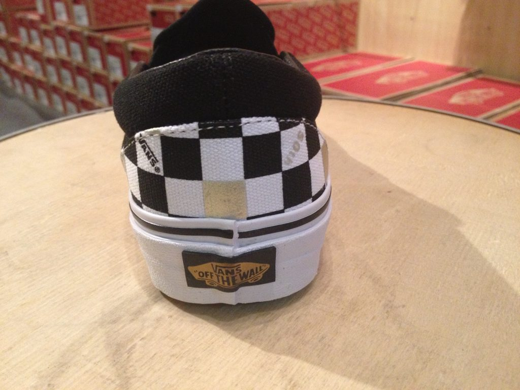 "VANS ""Slip-On (50th) Black/Gold/Checker"" : Price 3,200.-"