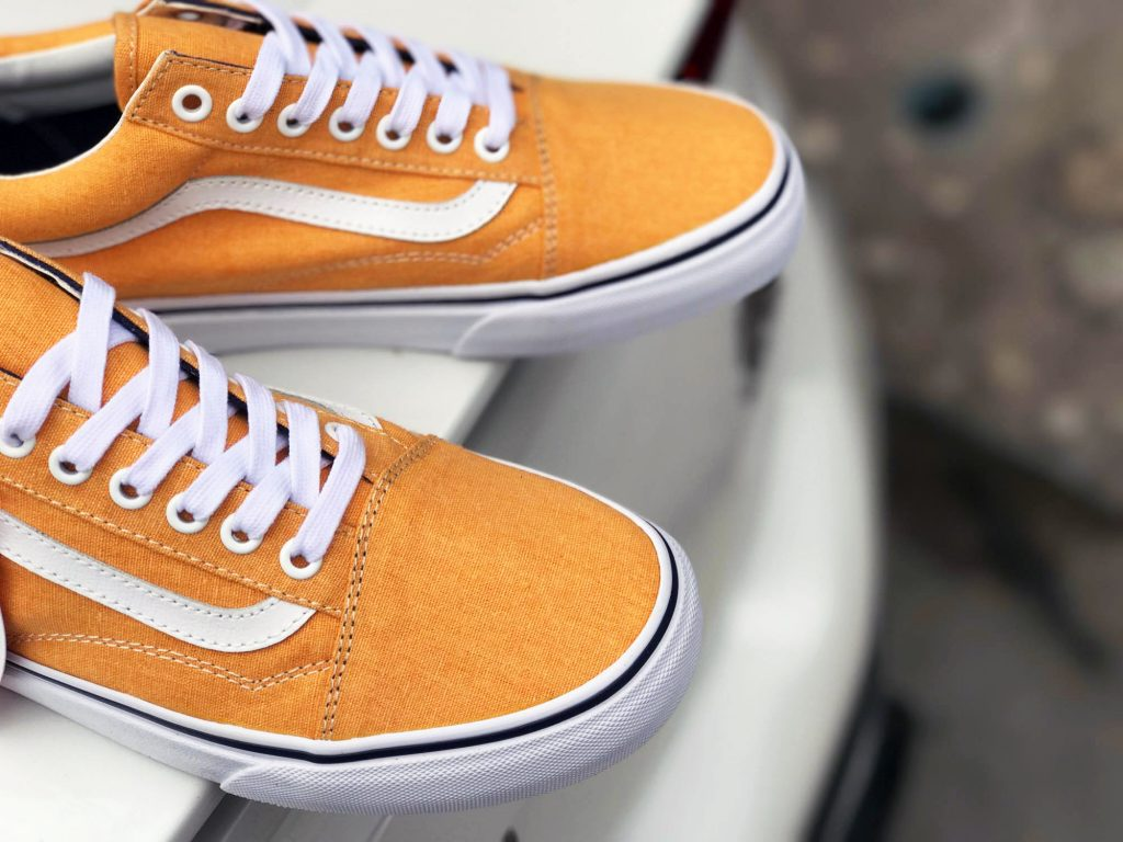 VANS Old Skool (Washed Canvas) - Citrus/Crown Blue (Import) : Price 2,900.-