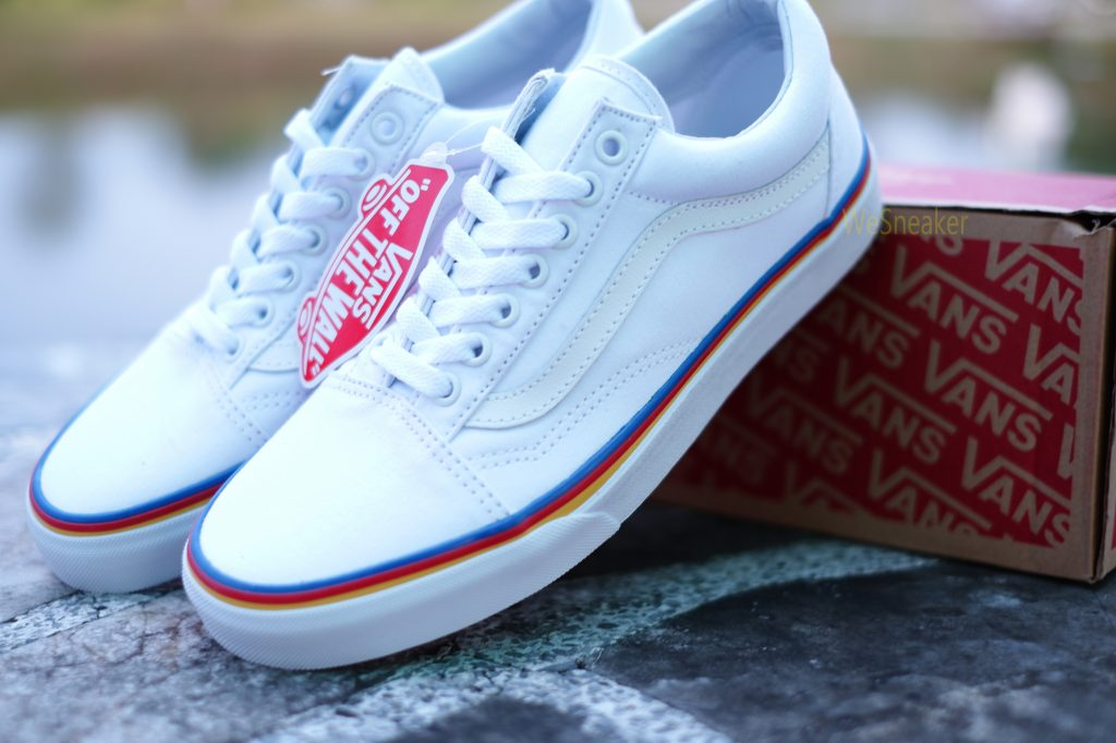 [VANS] Old Skool (Rainbow Foxing Line) - True White : Price 2,900.-