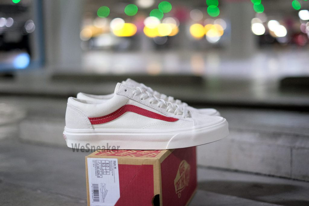 [VANS] Style 36 - Marshmallow/Racing Red : Price 2,800.-