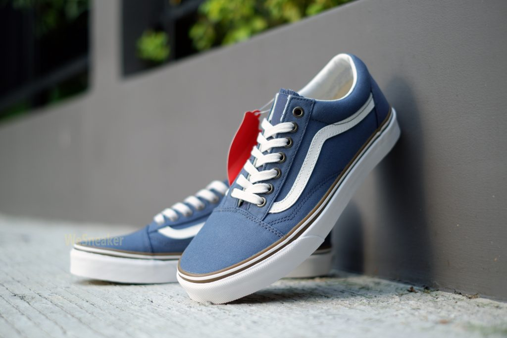 [VANS] Old Skool (Sun Faded) - Vintage Indigo/Blanc de Blanc : Price 3,390.-