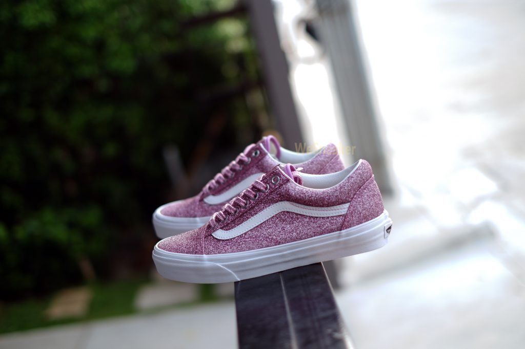 [VANS] Old Skool (Lurex Glitter) - Pink/True White : Price 3,590.-