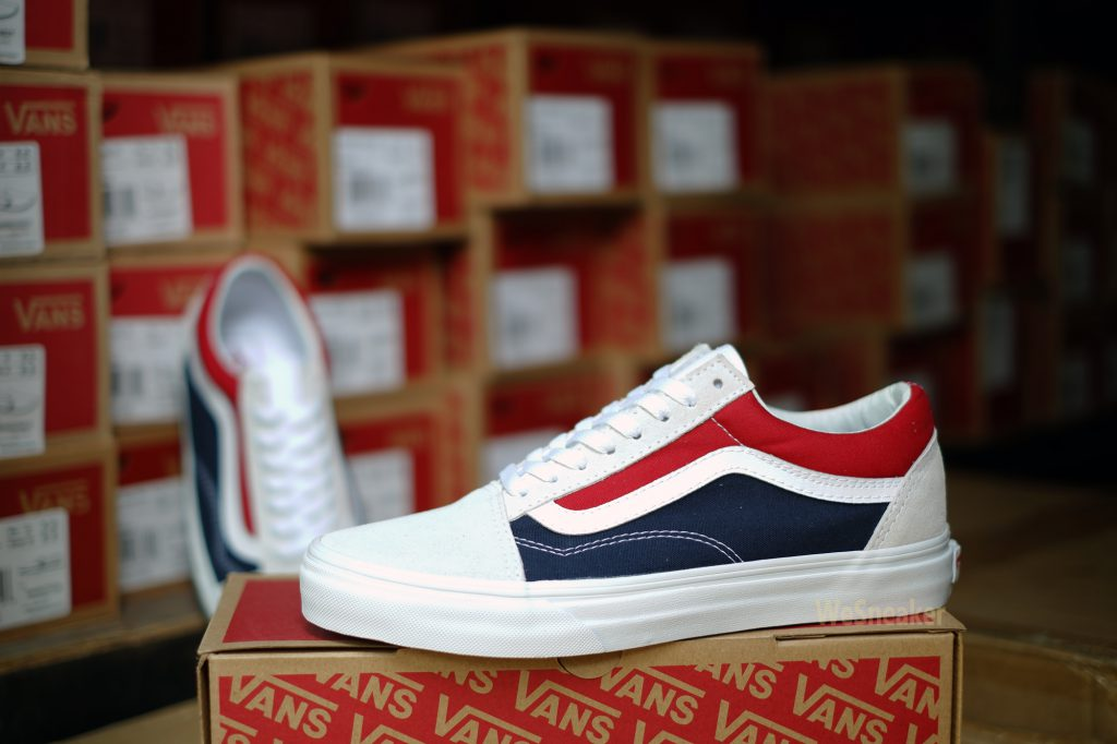 [VANS] Old Skool (Retro Block) - White/Red/Dress Blues : Price 2,900.-