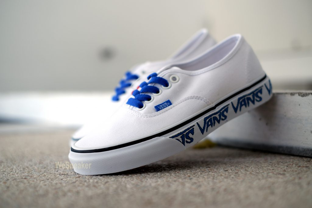 [VANS] Authentic (Sketch Sidewall) - True White/Blue : Price 2,500.-