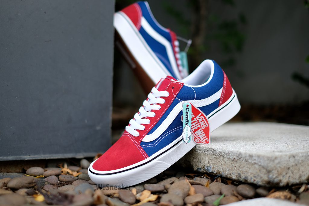 [VANS] Old Skool (ComfyCush) - Two Tone Chili Pepper/True Blue : Price 3,400.-