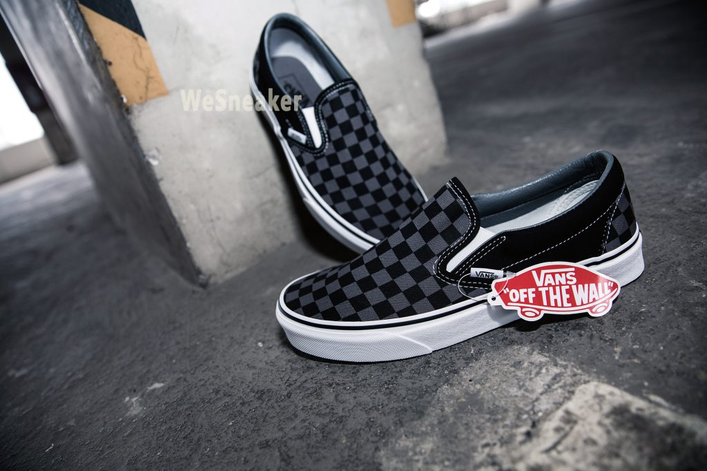 [VANS] Slip-On (Checkerboard) - Black/Pewter Check : Price 1,990.-