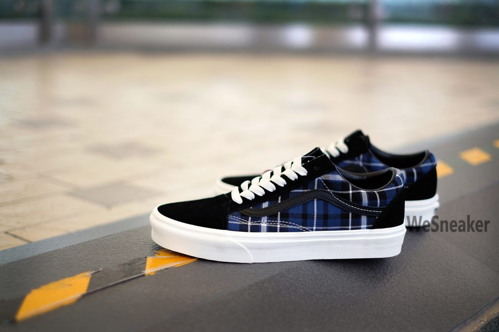[VANS] Old Skool (Plaid Mix) - Black/Navy : Price 2,800.-