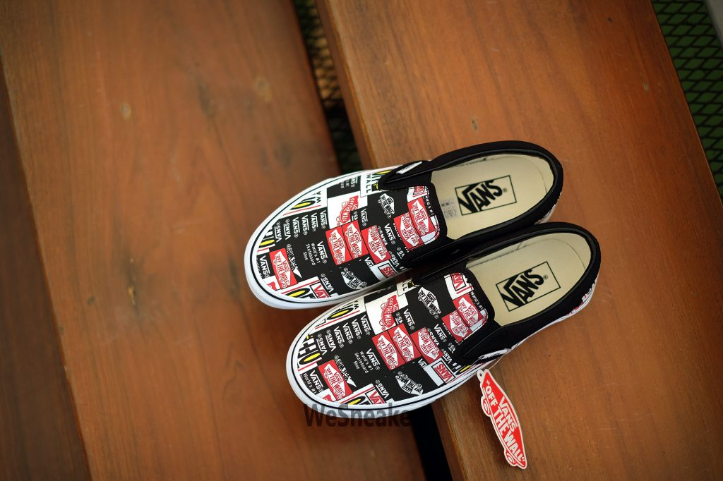 [VANS] Slip-On (Label Mix) - Black/True White : Price 2,300.-