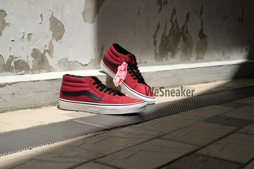 [VANS] SK8 (Mid) - Biking Red/True White : Price 2,500.-