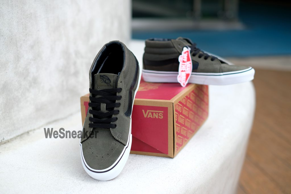 [VANS] SK8 (Mid) - Grape Leaf/True White : Price 2,900.-