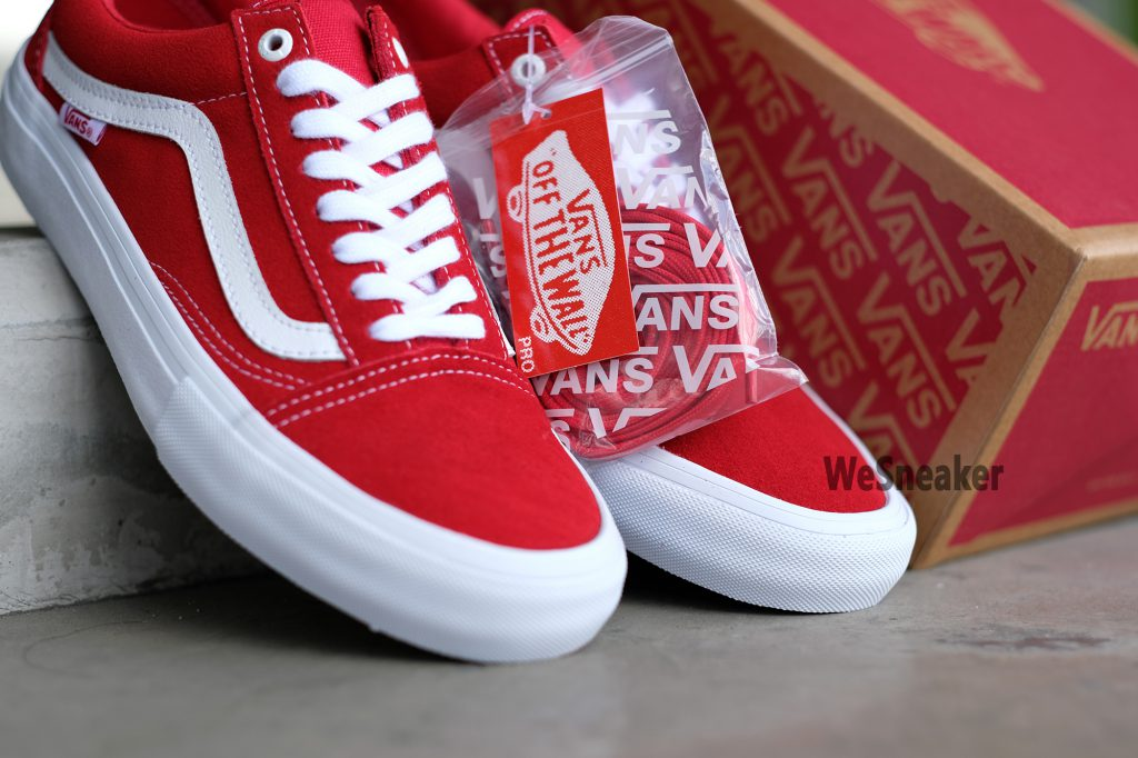[VANS] Old Skool (PRO) - Suede Red/White : Price 3,400.-