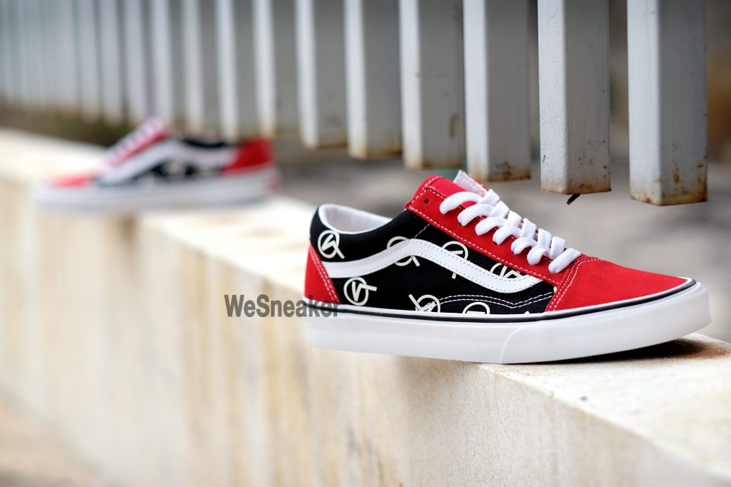 [VANS] Old Skool (Circle V) - Red/Black : Price 2,800.-