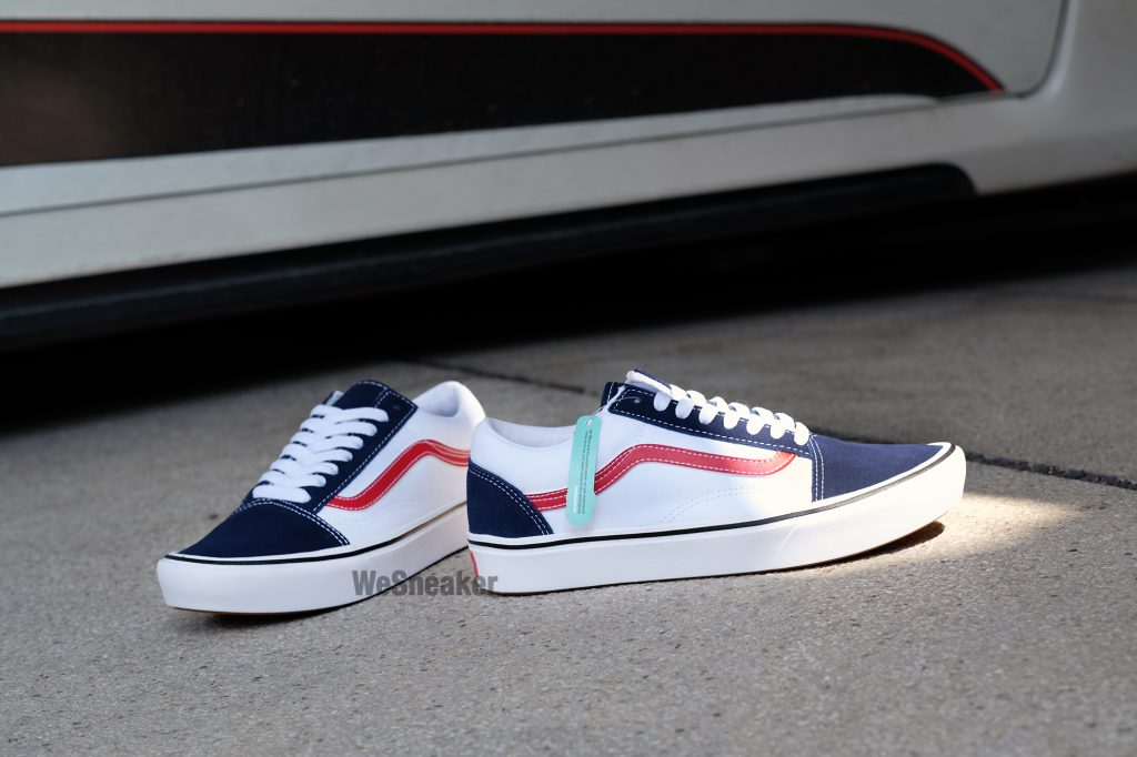 "VANS Old Skool (ComfyCush) ""Tri-Tone"" Dress Blue/Red : Price 3,200.-"